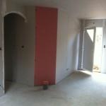 platrerie chantier maison bois La Chapelle Gonaguet