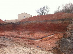 Terrassement chantier maison bois Uzerche