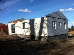 Elévation ossature bois, maison bois Cornille