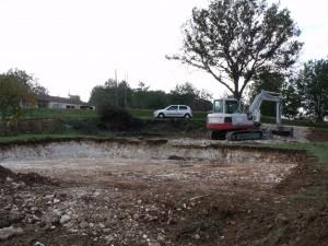 Terrassement chantier maison bois Sencenac Puy de Fourches