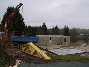 Chantier construction perigord maison bois