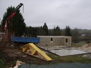 Chantier construction perigord maison bois