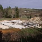 Pose plancher chantier maison bois Sencenac Puy de Fourches
