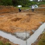 Fondation chantier maison bois Saint Foy des Vignes
