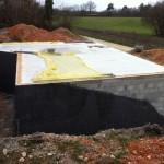 Pose plancher chantier maison bois Uzerche