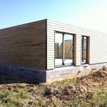 élévation ossature bois chantier maison bois Saint Foy des Vignes