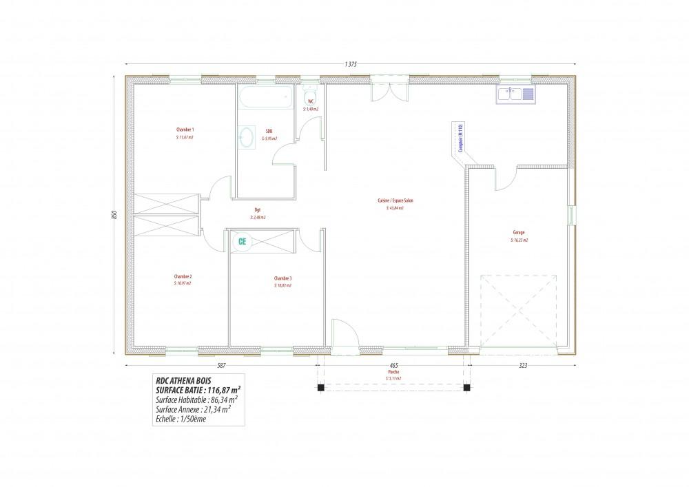 Plan maison a construire exemple de plans constitus des for Maison a construire plan