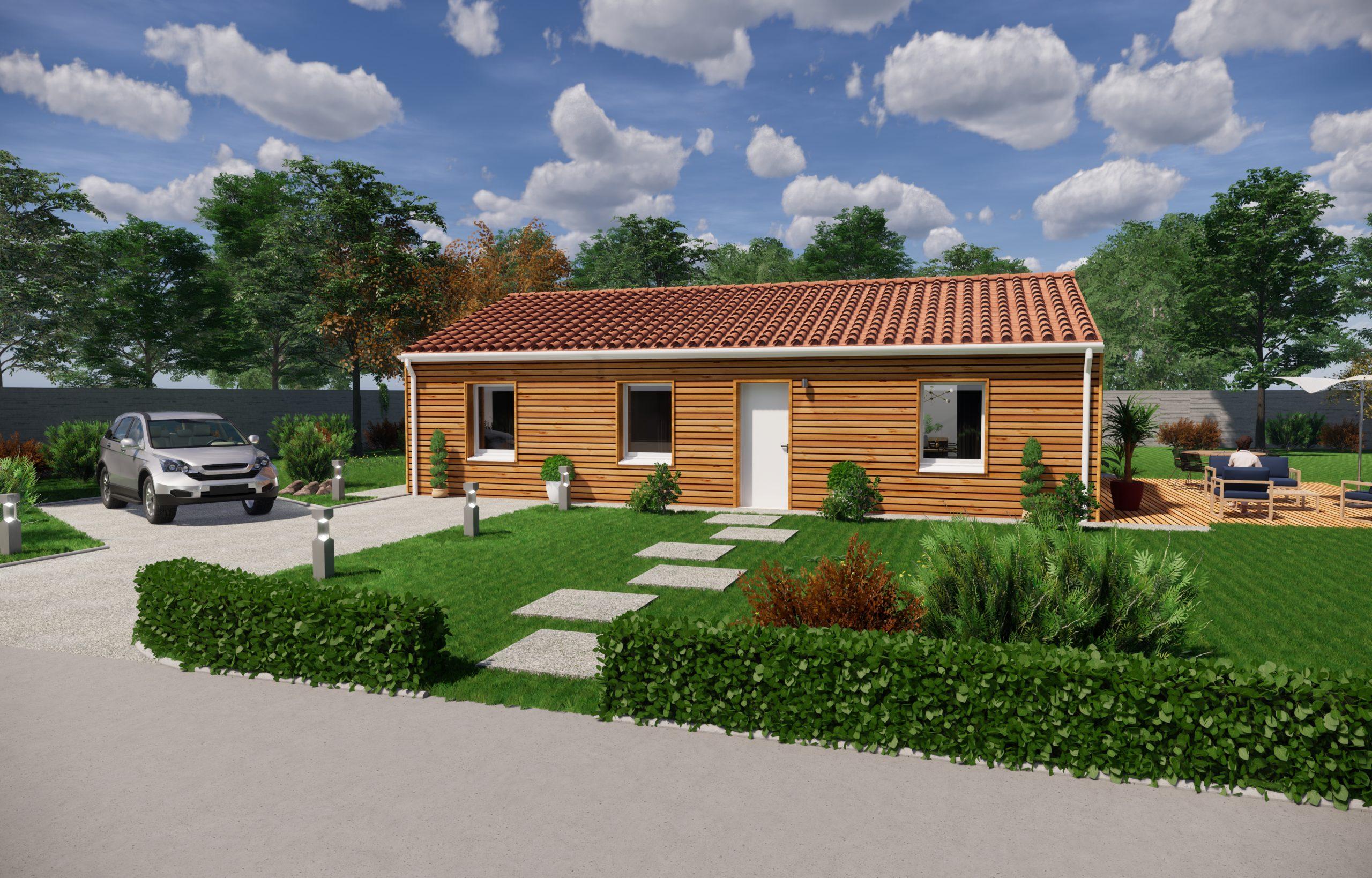 Maison ossature bois-PMB-perigord maisons bois- chalet - maison à construire - maison neuve - proissans- sarlat - perigord - ccmi - contrat de construction - constructeur de maisons individuelles
