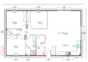 Plan maison-bois-ossature bois-maison à ossature bois-maison en ossature bois-périgord maisons bois-constructeur de maisons-contrat de construction-salignac-salignac eyvigues-chalet-maison bbc-rt2012