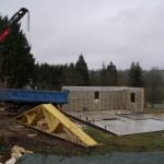élévation ossature bois chantier maison bois Sencenac Puy de Fourches