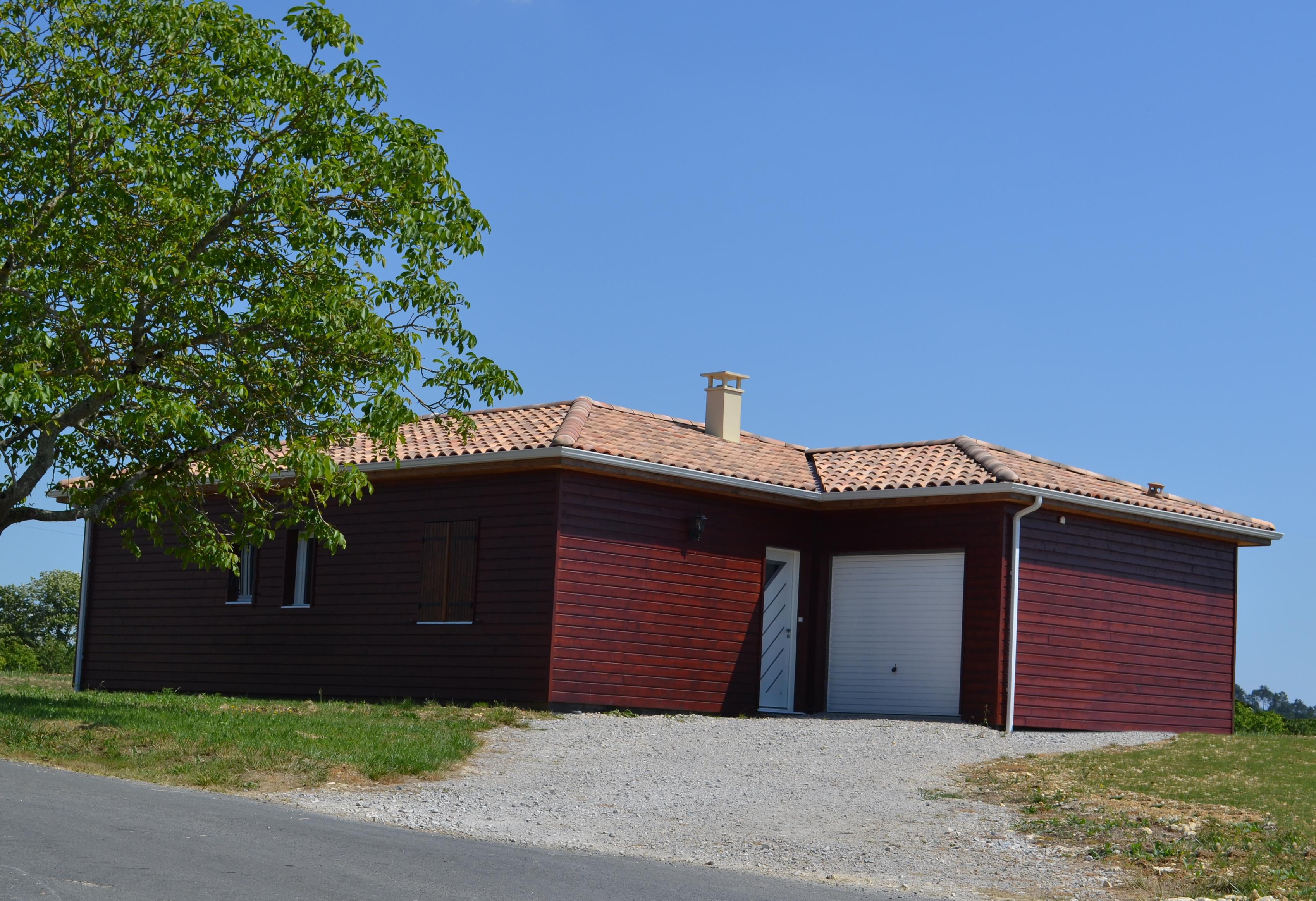 Maison bois secteur p rigueux chantier maison perigord for Constructeur maison individuelle 24000