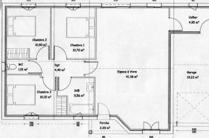 Plan maison bois Chancelade
