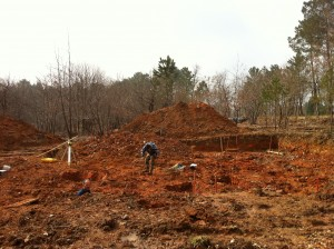 Terrassement chantier maison bois Marcillac-Saint-Quentin