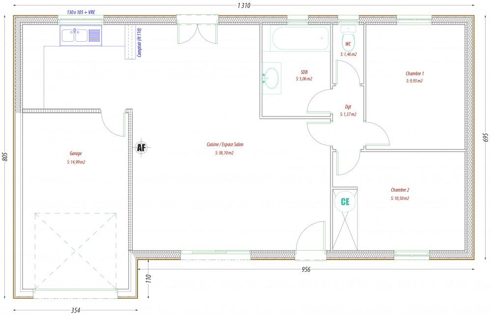 rdc pc _ 0. Etage plan Constructeur-maisons-individuelle-terrain-le-change-proche-tous-commerces1