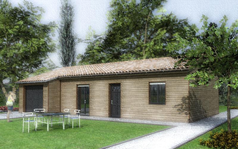 Maison construction en bois, bardage et RT 2012, BBC constructeur de maison en Dordogne 24 (2)