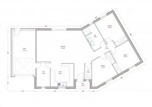 Plan maison bois Ombrette