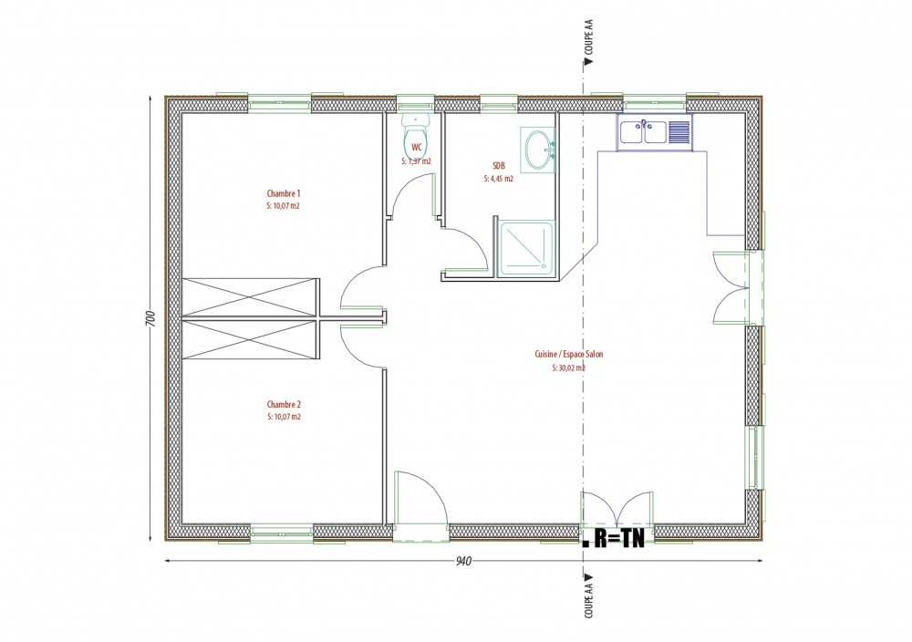 PC LABOUTADE-AUBY. plan Constructeur-maisons-individuelle-terrain-le-change-proche-tous-commerces1