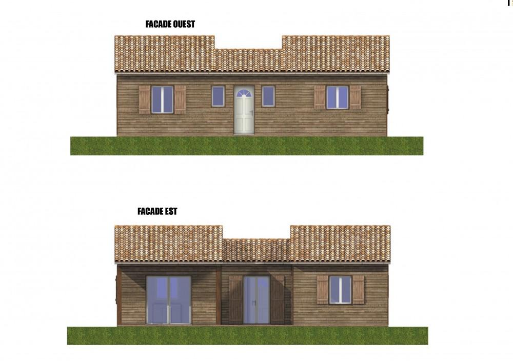 PC LABOUTADE-AUBY. facades plan perigord maisons bois, constructeur de maisons individuelles, maison en bois, rt 2012