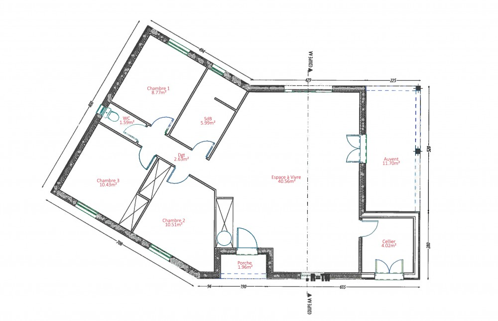 Plan maison bois plan maison bois plain pied maison bois for Maison bbc plan