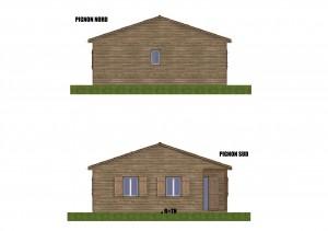 Facade maison bois Hirondelle