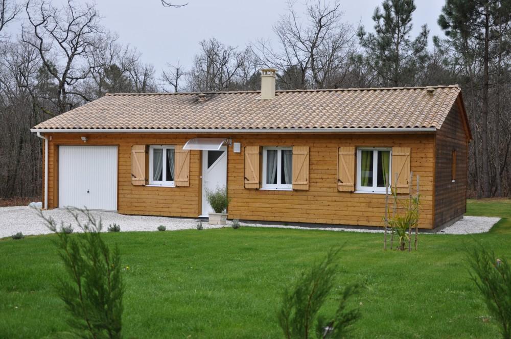 Maison Modèle maison bois Fauvette Périgord Maisons Bois – Périgueux- Dordogne-pas chere-Architecte