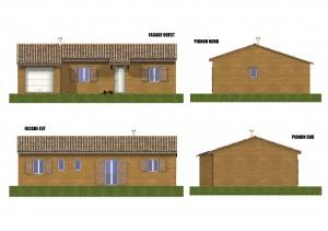 Facade maison bois Figuier