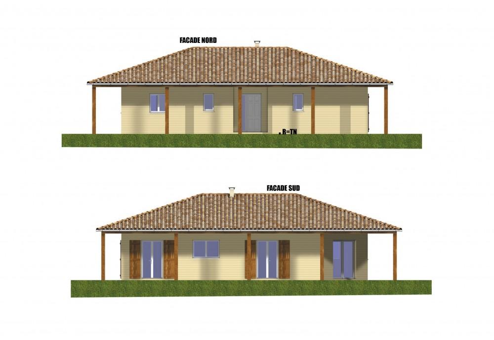 facades maison bois pas chere, constructeur de maisons individuelles, maison en bois, rt 2012