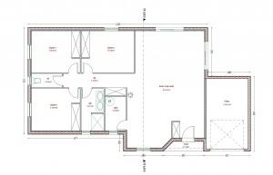 Plan maison Bois COLOMBE PERIGORD MAISONS BOIS Ce modèle de maison aux normes RT 2012 a été crée par notre société pour un client.