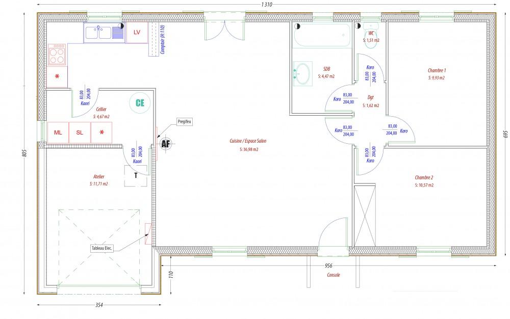 Plan maison bois figuier perigord maisons bois for Constructeur de maison rt 2012