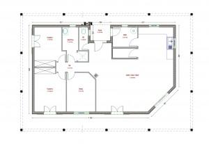Plan maison bois Rossignol secteur Périgueux