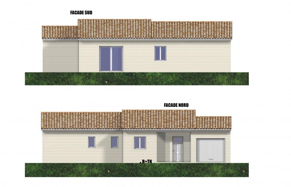 Plan maison bois colombe perigord maisons bois for Maison individuelle en bois