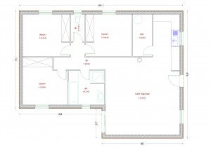 Plan maison bois Ibis
