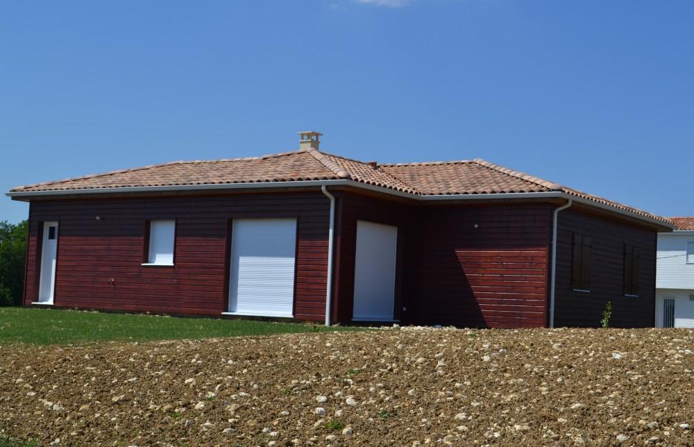 Plan maison bois goeland p rigord maisons bois for Maison a batir en bois