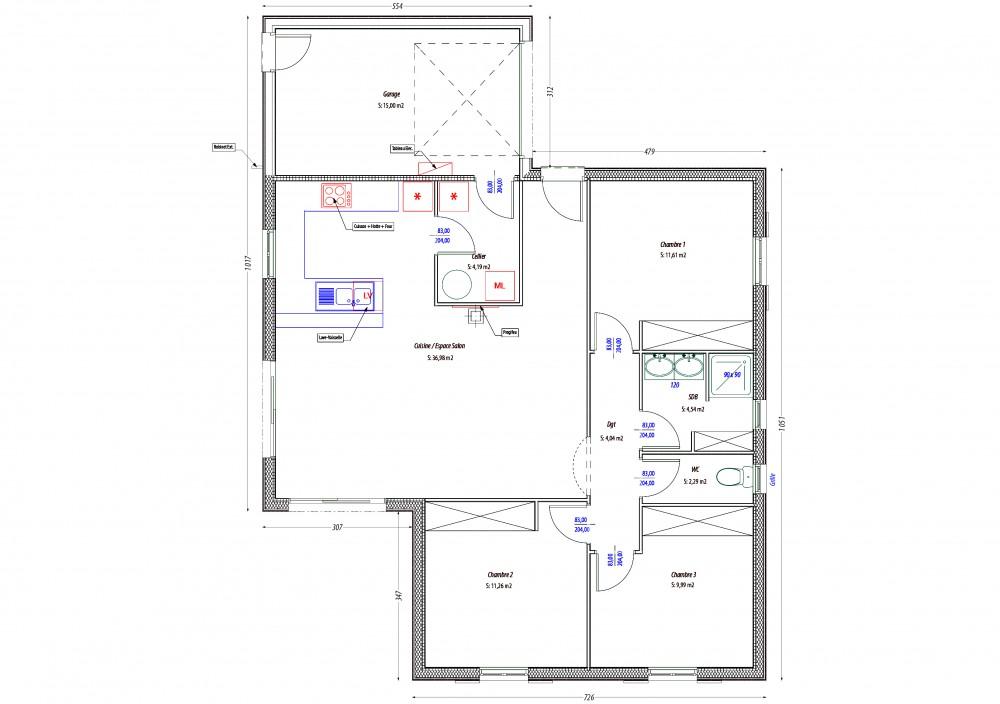 Plan maison bois goeland p rigord maisons bois for Constructeur de maison rt 2012