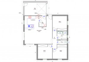 Plan maison bois Goeland