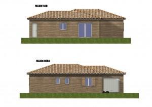 Facade maison bois Goeland