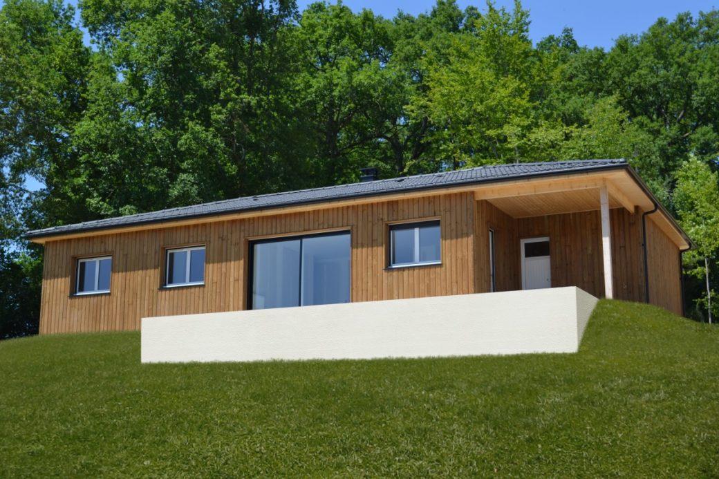 constructeur de maisons individuelles bois, maison bois rt2012, bardage bois, charpente traditionnelle, perigord maisons bois 2