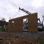 élévation ossature bois chantier maison bois Saint Laurent sur Manoire