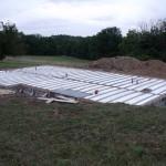 pose plancher chantier maison bois Saint Laurent sur Manoire