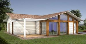 Maison bois respectueuse de l'environnement
