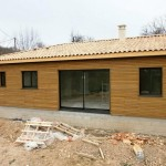 Pose couverture bois chantier maison bois Saint Laurent sur Manoire