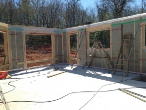 élévation ossature bois chantier maison bois Uzerche